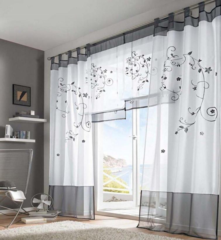 Fenstergestaltung 37 Ideen Für Gardinentrends Und Farbwahl von Wohnzimmer Gardinen Lang Photo