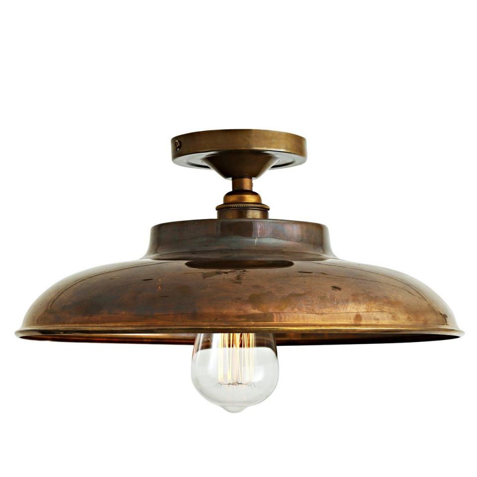 Flache Industriedeckenleuchte Ø 32 Cm Von Aire Lighting von Deckenlampe Wohnzimmer Industrie Photo