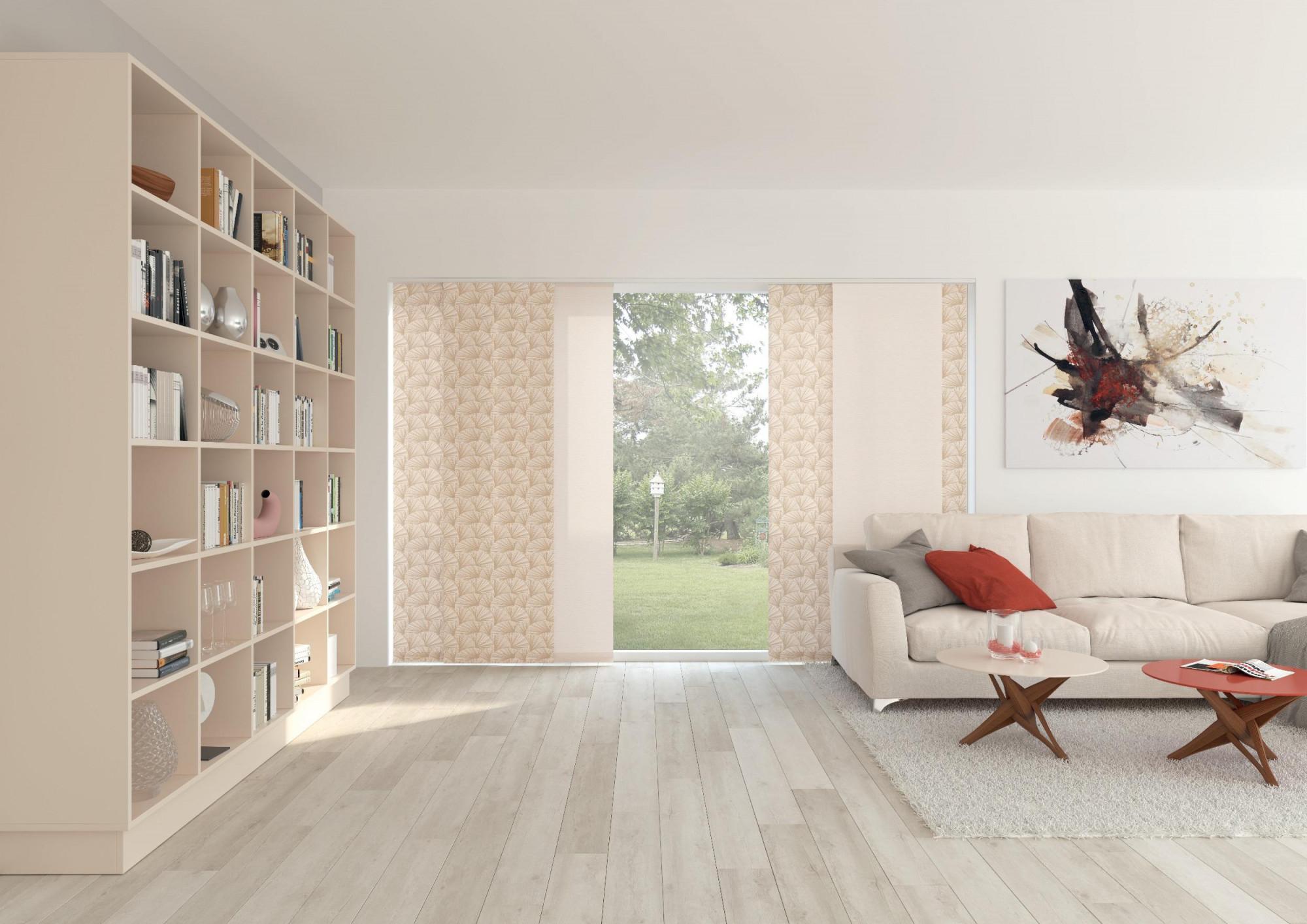 Flächenvorhang • Bilder  Ideen • Couch von Ideen Schiebegardinen Wohnzimmer Bild