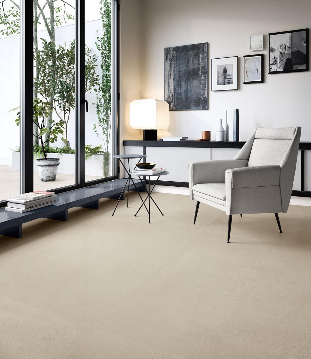 """Fliese Betonoptik Großformat Beige """"ritual Sand"""" Sant von Bilder Großformat Wohnzimmer Photo"""