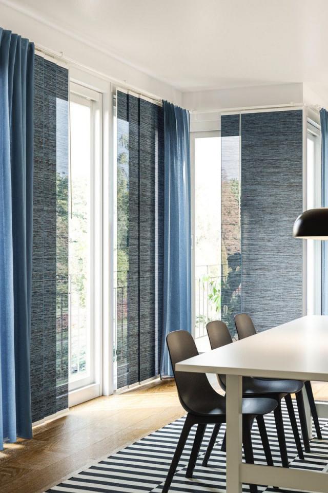 Fönsterviva Schiebegardine  Blaugrau  Ikea Deutschland von Ideen Schiebegardinen Wohnzimmer Photo