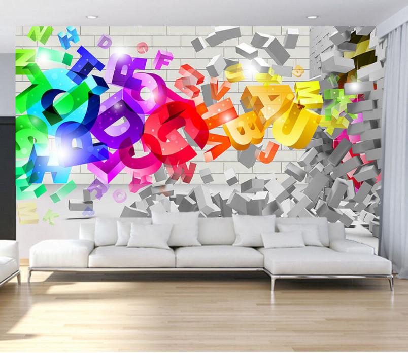 Fototapete Wohnzimmer Wand Und Moderne Kunst Nr Dec9543 Uwalls von Bilder Moderne Kunst Wohnzimmer Photo