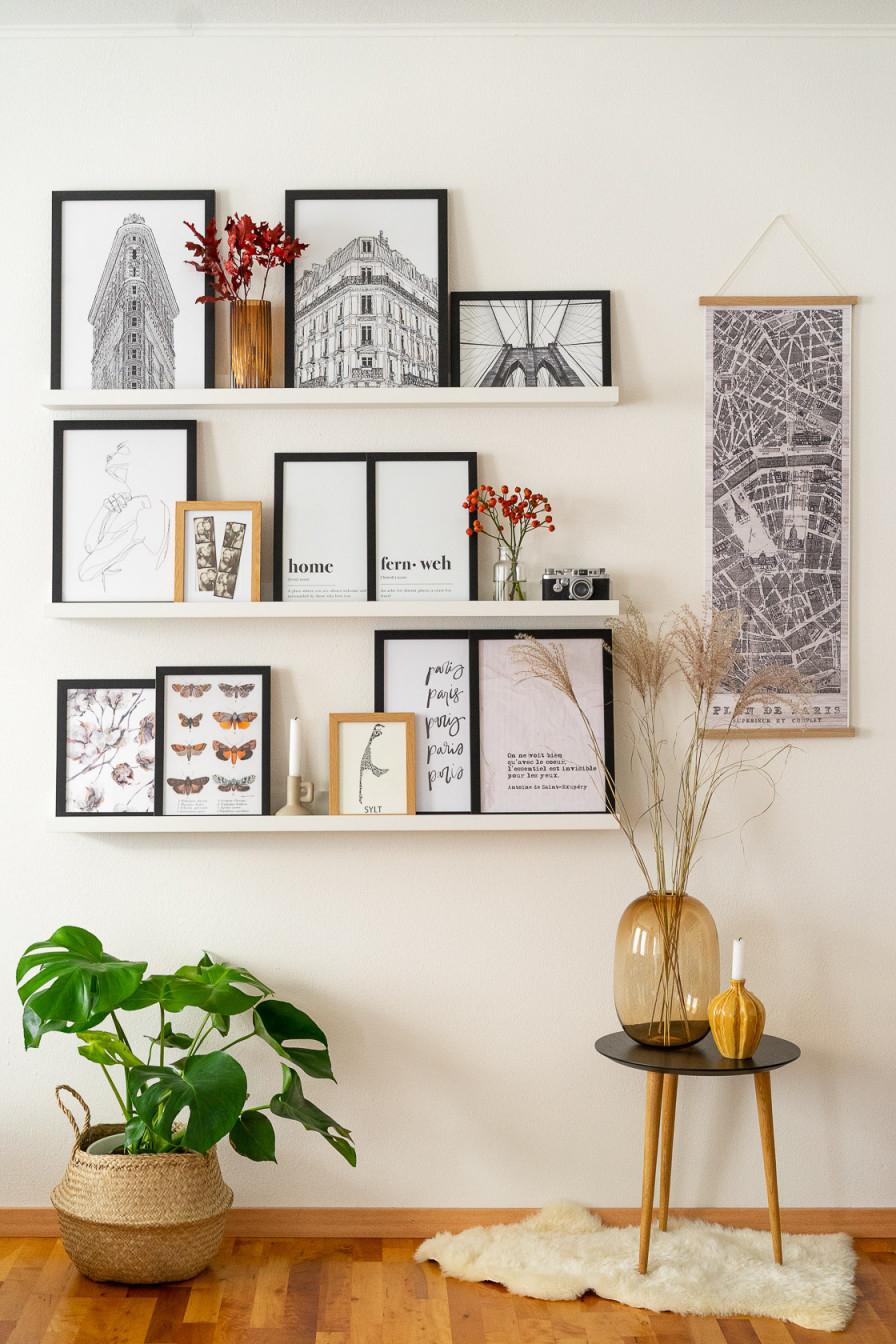 Fotowand Gestalten  5 Tipps  Kreative Ideen von Fotowand Ideen Wohnzimmer Bild