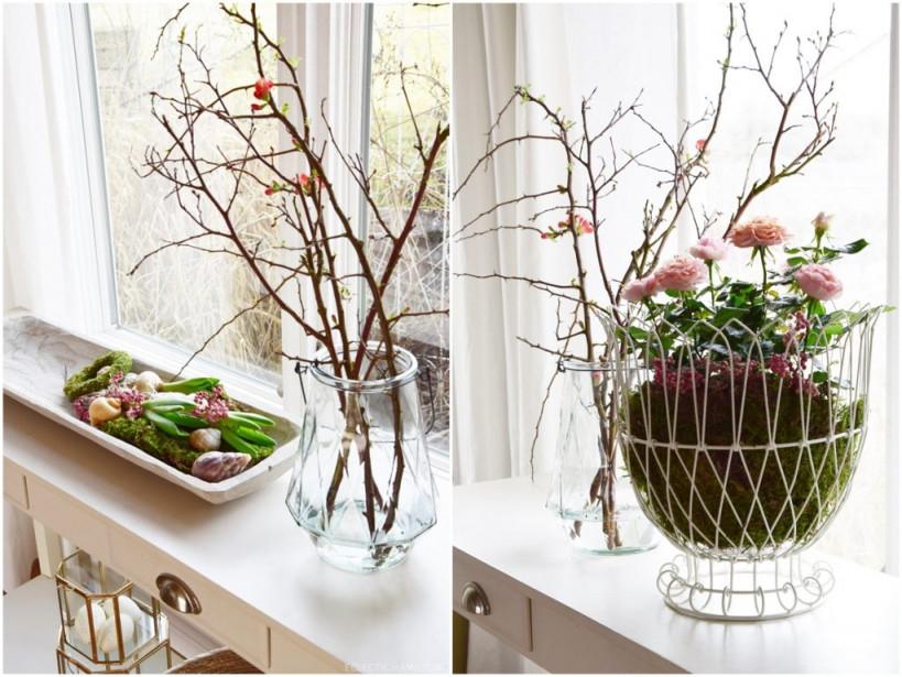Frühlingsdekoideen Für Sideboard Und Konsole Kreativ Und von Deko Frühling Wohnzimmer Photo