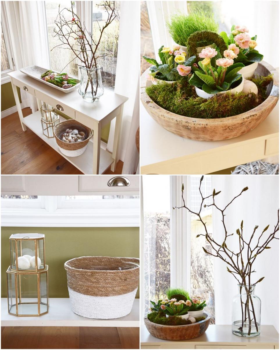 Frühlingsdekoideen Für Sideboard Und Konsole Kreativ Und von Frühling Deko Wohnzimmer Photo
