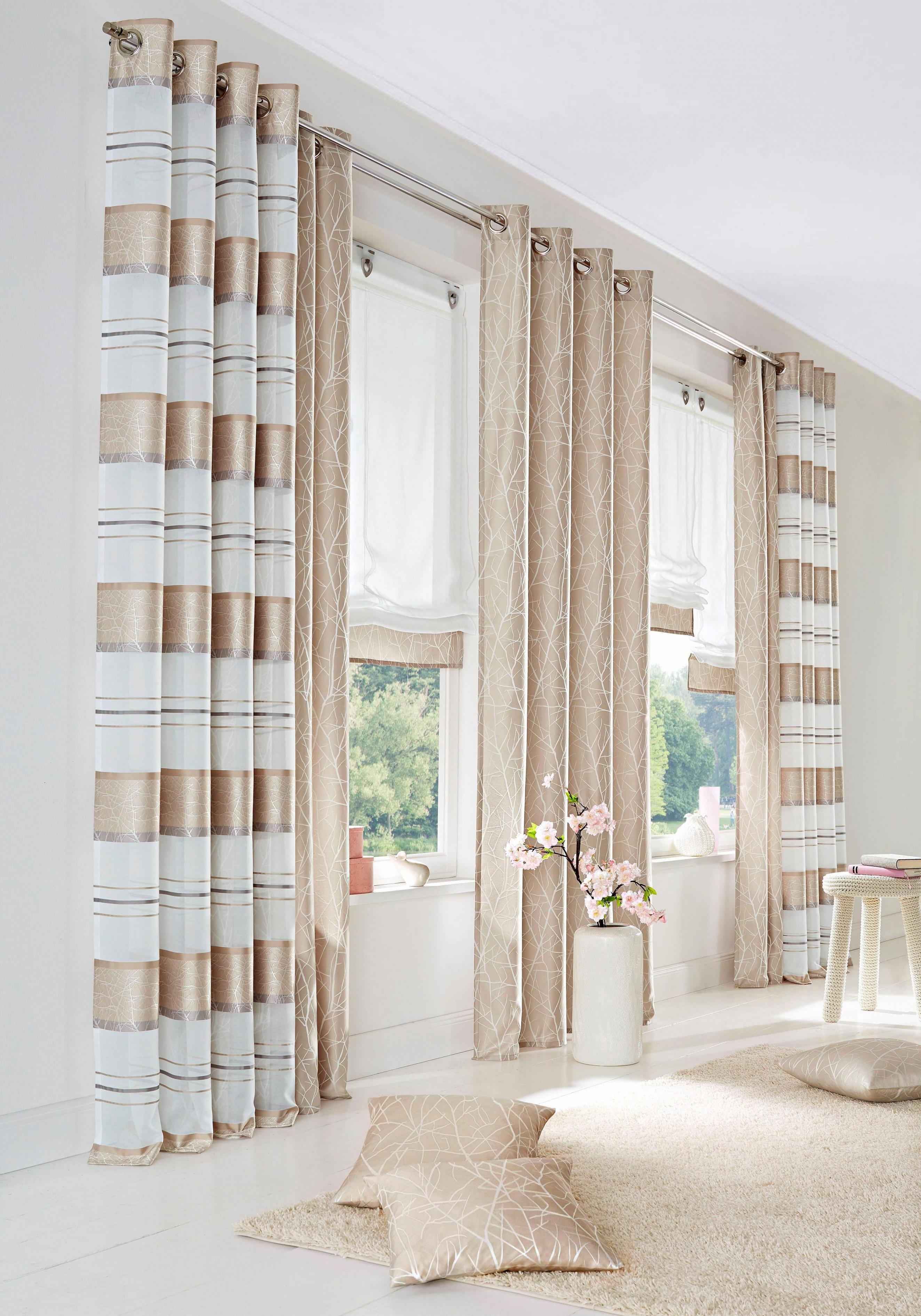 Gardine Campos Home Wohnideen Kräuselband 2 Stück Auf von Gardinen Wohnzimmer Mit Kräuselband Bild