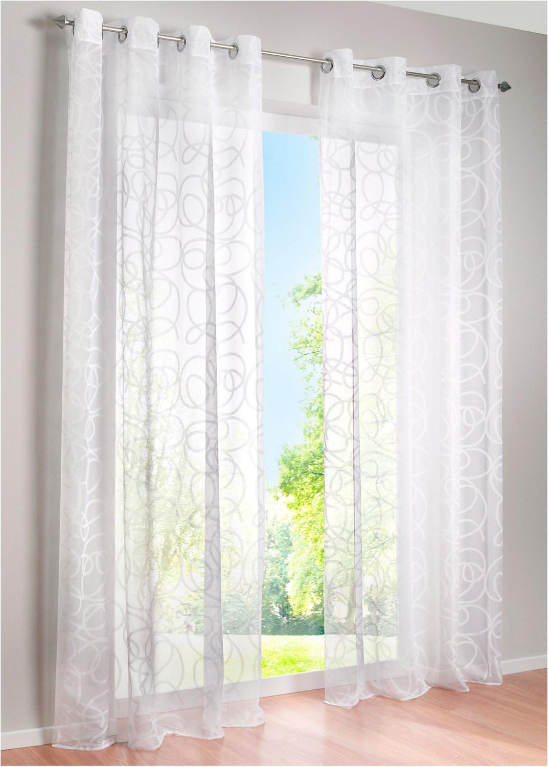 Gardine Im Topmodernen Tonintondesign  Weiß Ösen von Ösen Gardinen Wohnzimmer Photo