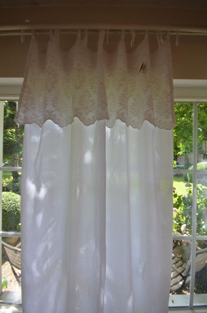 Gardine Vorhang Serina Schleifengardine Weiß 140X250 von Vintage Gardinen Wohnzimmer Bild