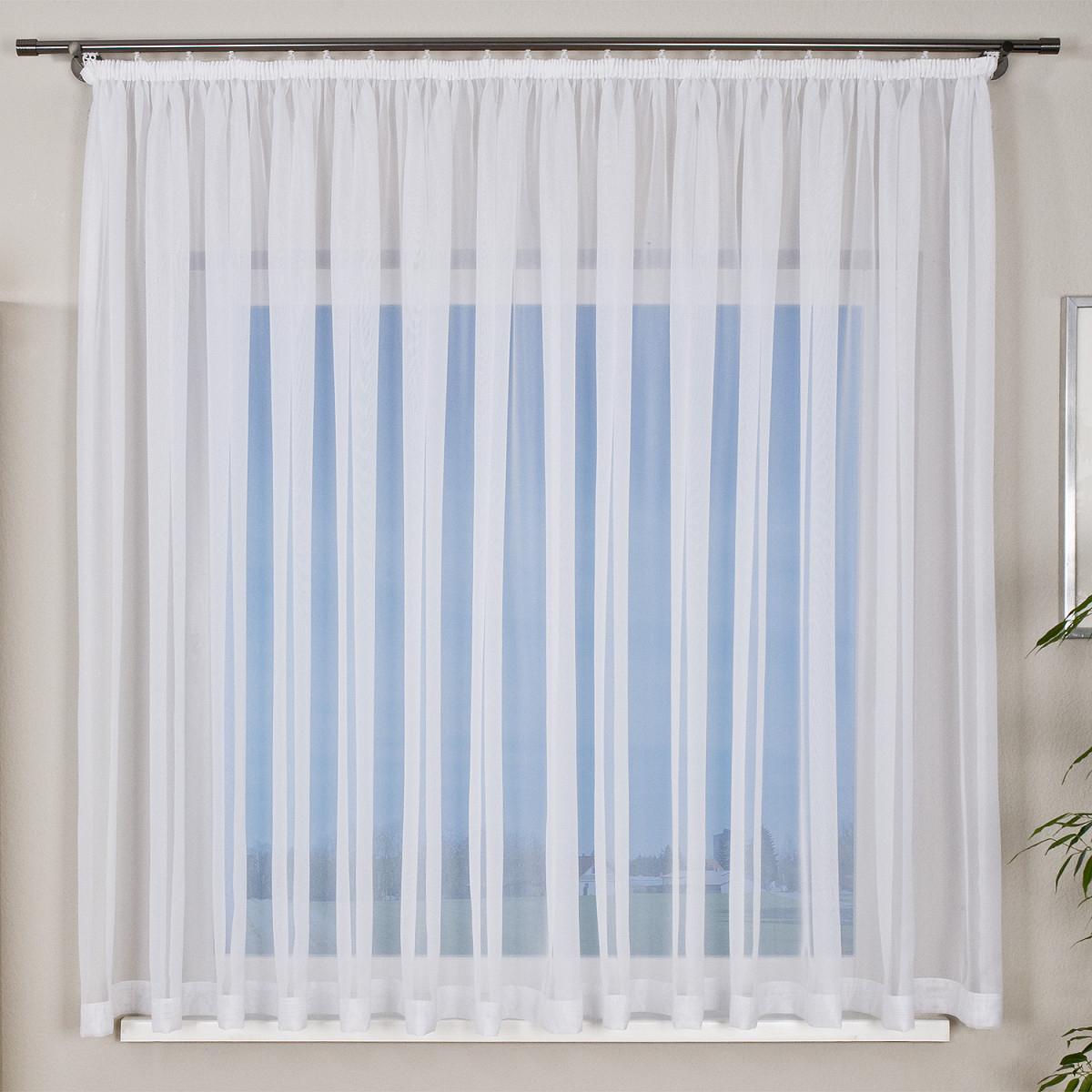 Gardine  Weiß  Transparent  450X150Cm von Gardinen Wohnzimmer Roller Bild