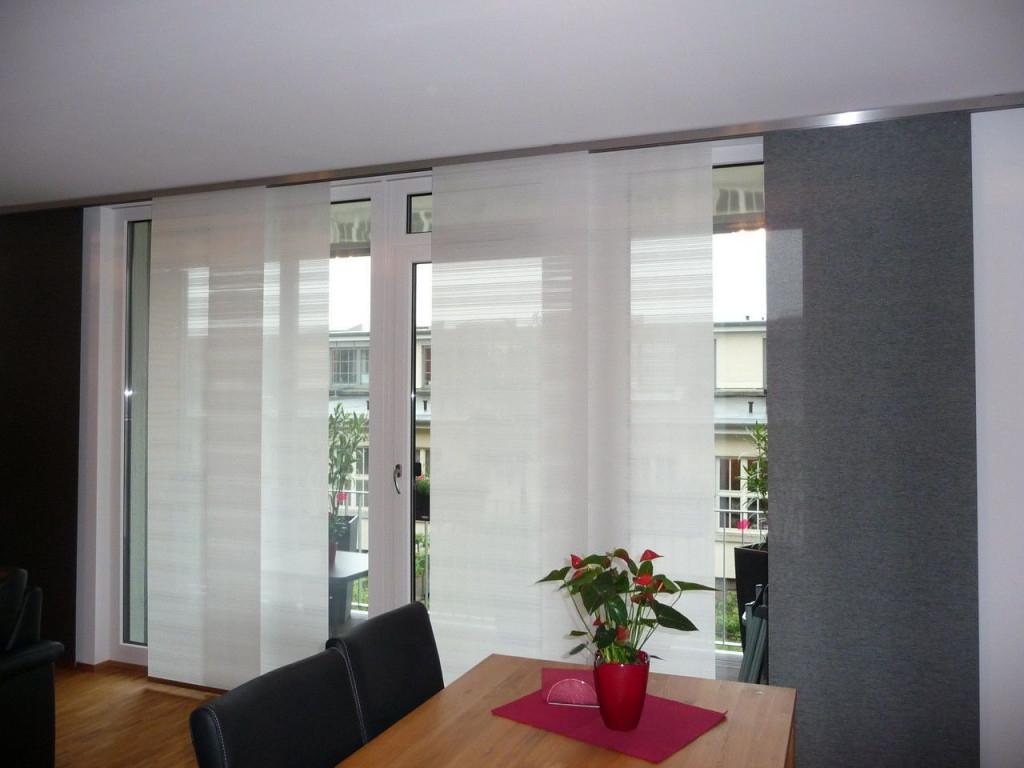 Gardinen Für Wohnzimmer Große Fenster  Curtains Living Room von Wohnzimmer Gardinen Mit Balkontür Modern Photo