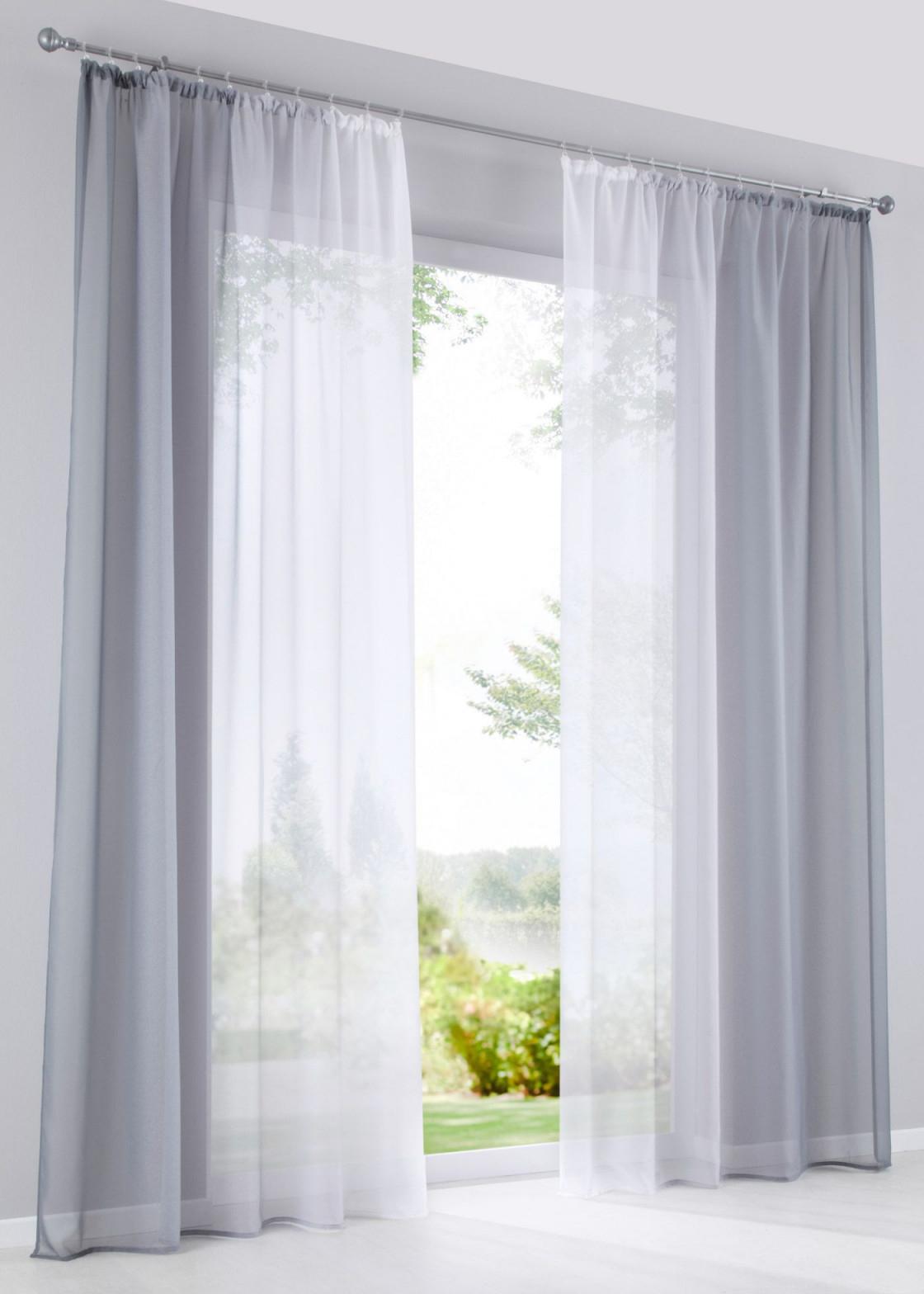 Gardinen Mit Farbverlauf (2Er Pack) In 2020  Gardinen von Wohnzimmer Gardinen Mit Kräuselband Bild