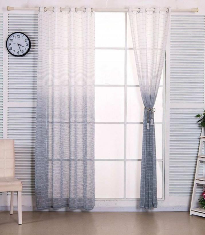 Gardinen Schwarz Weiß Genial Vorhang Grau Weiß Gestreift von Gardinen Wohnzimmer Grau Weiß Bild