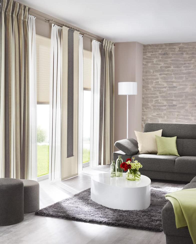 Gardinen Sonnenschutz Plissee  Livingreet Modern Von von Schöne Gardinen Wohnzimmer Bild
