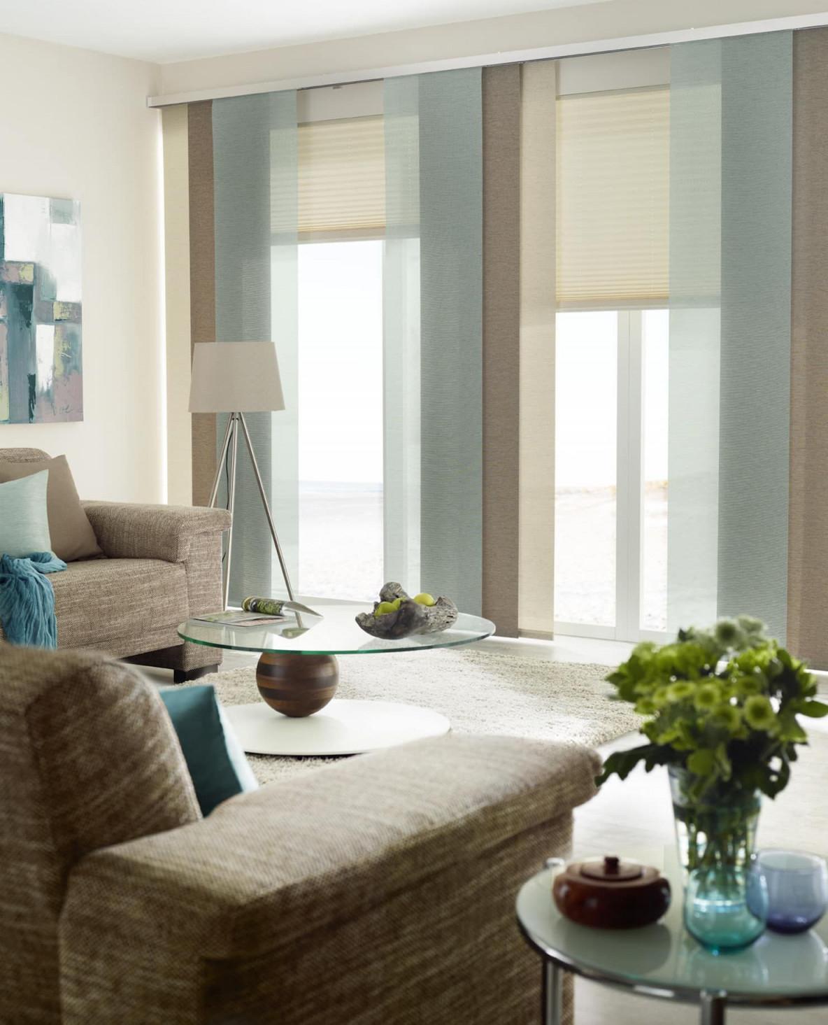 Gardinen Sonnenschutz Plissee  Livingreet Moderne von Fenstergestaltung Wohnzimmer Ideen Bild