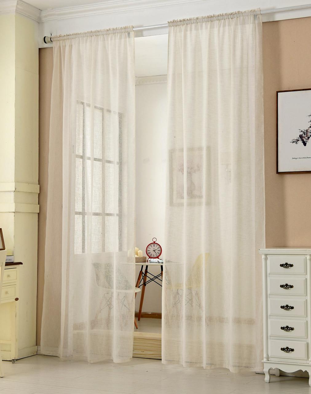 Gardinen Transparent Mit Kräuselband Leinen Optik von Wohnzimmer Gardinen Mit Kräuselband Bild