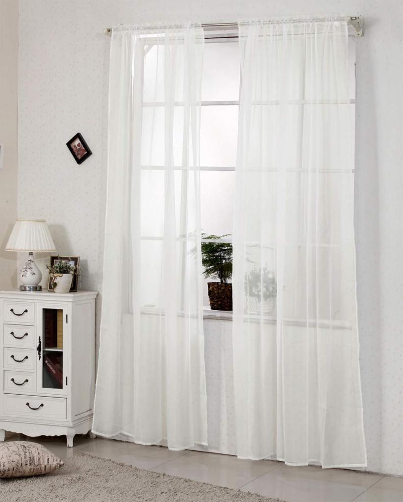 Gardinen Transparent Mit Kräuselband Stores Voile Für Schiene Fensterschal  Wohnzimmer von Leichte Gardinen Wohnzimmer Photo