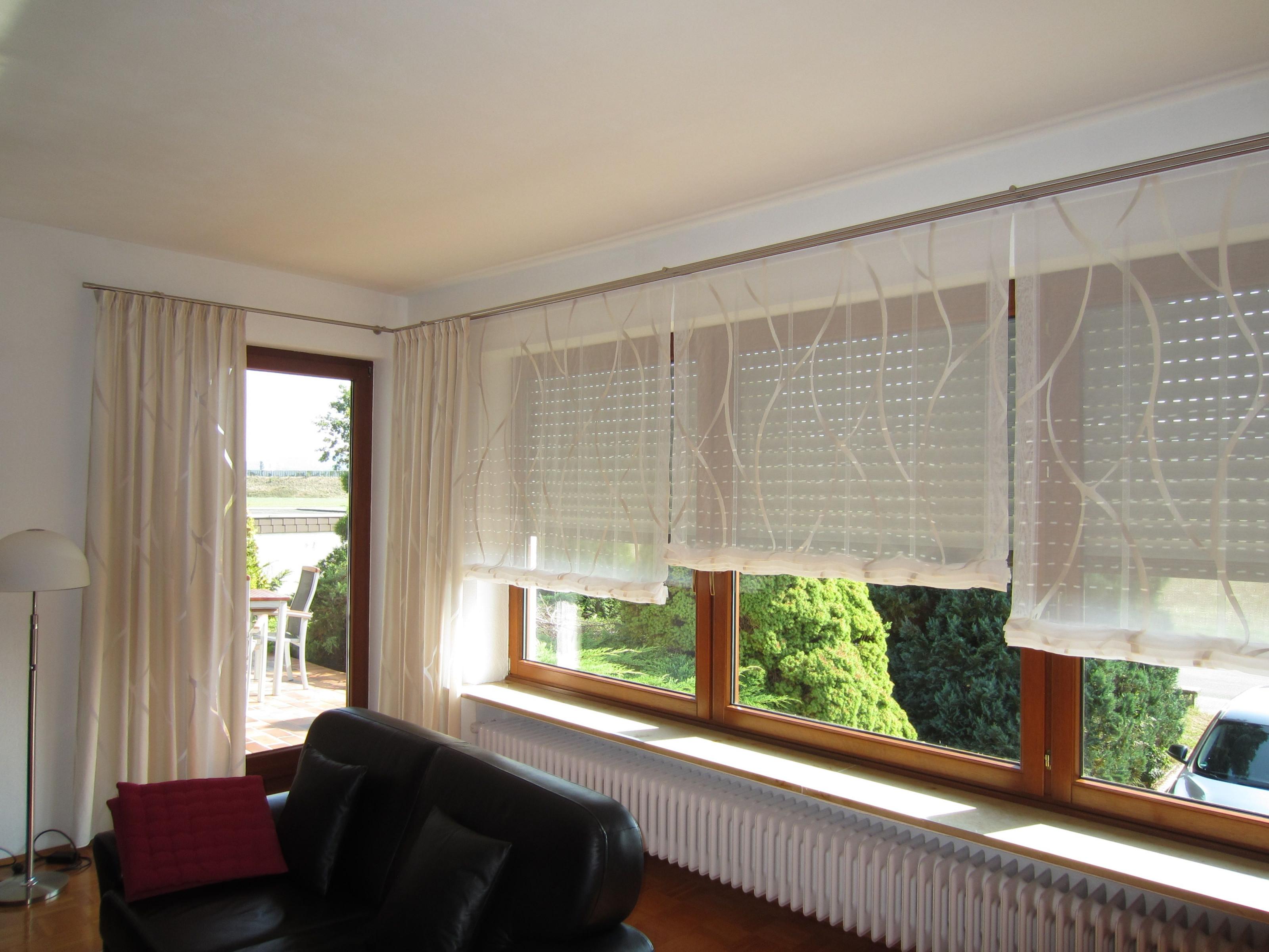 Gardinen  Vorhänge Für Die Kreise Lichtenfels Kulmbach von Gardinen Wohnzimmer Großes Fenster Photo