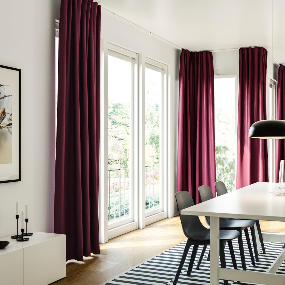 Gardinenideen Inspirationen Für Dein Zuhause  Ikea von Gardinen Für Bodentiefe Fenster Wohnzimmer Photo
