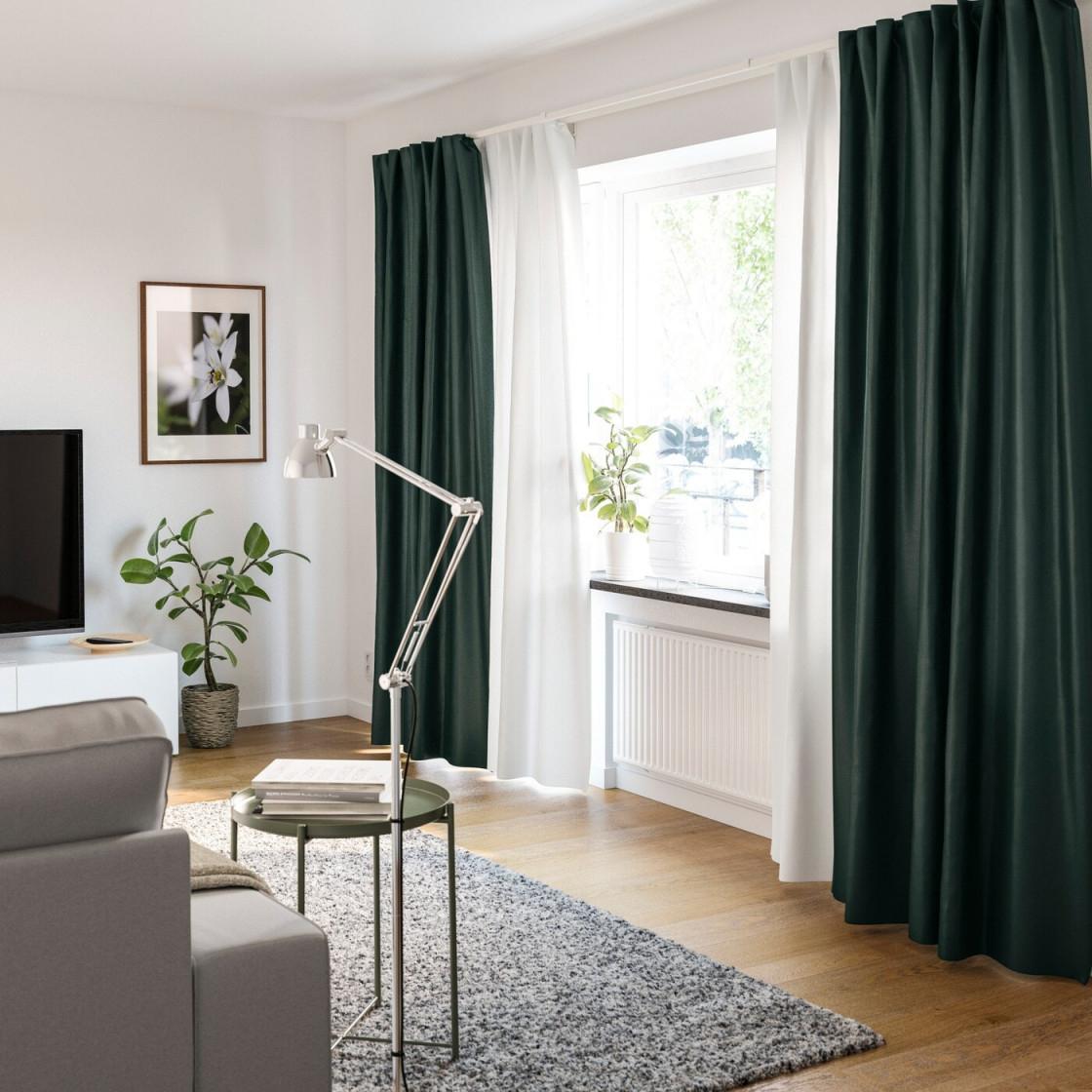 Gardinenideen Inspirationen Für Dein Zuhause  Ikea von Wohnzimmer Fensterfront Gardinen Photo