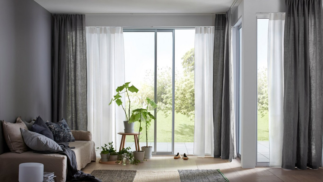 Gardinenideen Inspirationen Für Dein Zuhause  Ikea von Wohnzimmer Gardinen Mit Balkontür Modern Bild