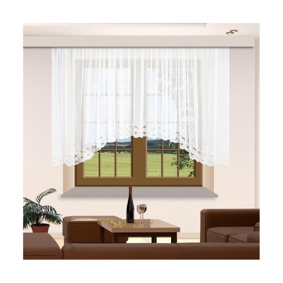 Gardinenstores Spitzenbogenstore Emilia Weiß von Wohnzimmer Gardinen Mit Bogen Bild