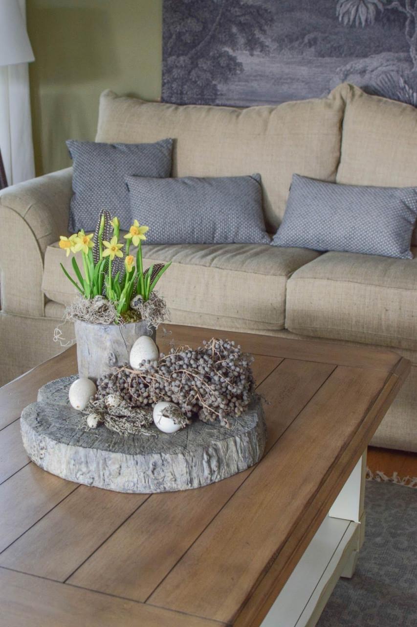 Gedecktes Osterarrangement Für Tisch Und Sideboard  Mrs von Deko Für Tisch Wohnzimmer Photo