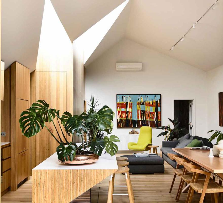 Gemütlich Einrichten Stadtvilla In Melbourne Mit Coolem von Wohnzimmer Einrichten Holz Photo