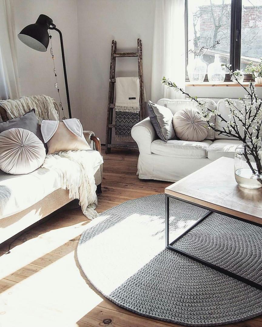 Gestrickte Teppich Runder Teppich Teppich Häkeln Häkeln (Mit von Runder Teppich Wohnzimmer Photo