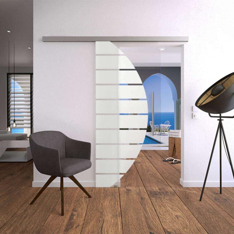 Glasschiebetürset 4As900 Mit Stoßgriff Für Ihr Wohnzimmer von Wohnzimmer Bilder Glas Bild