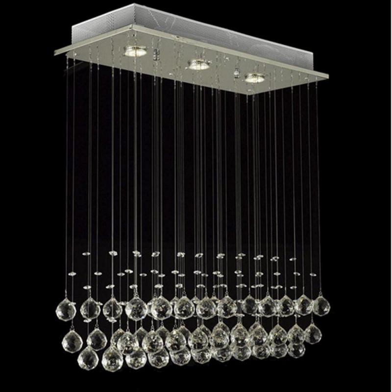 Glighone Led Deckenleuchte Kristall Hängend Kronleuchter von Wohnzimmer Lampe Hängend Led Photo