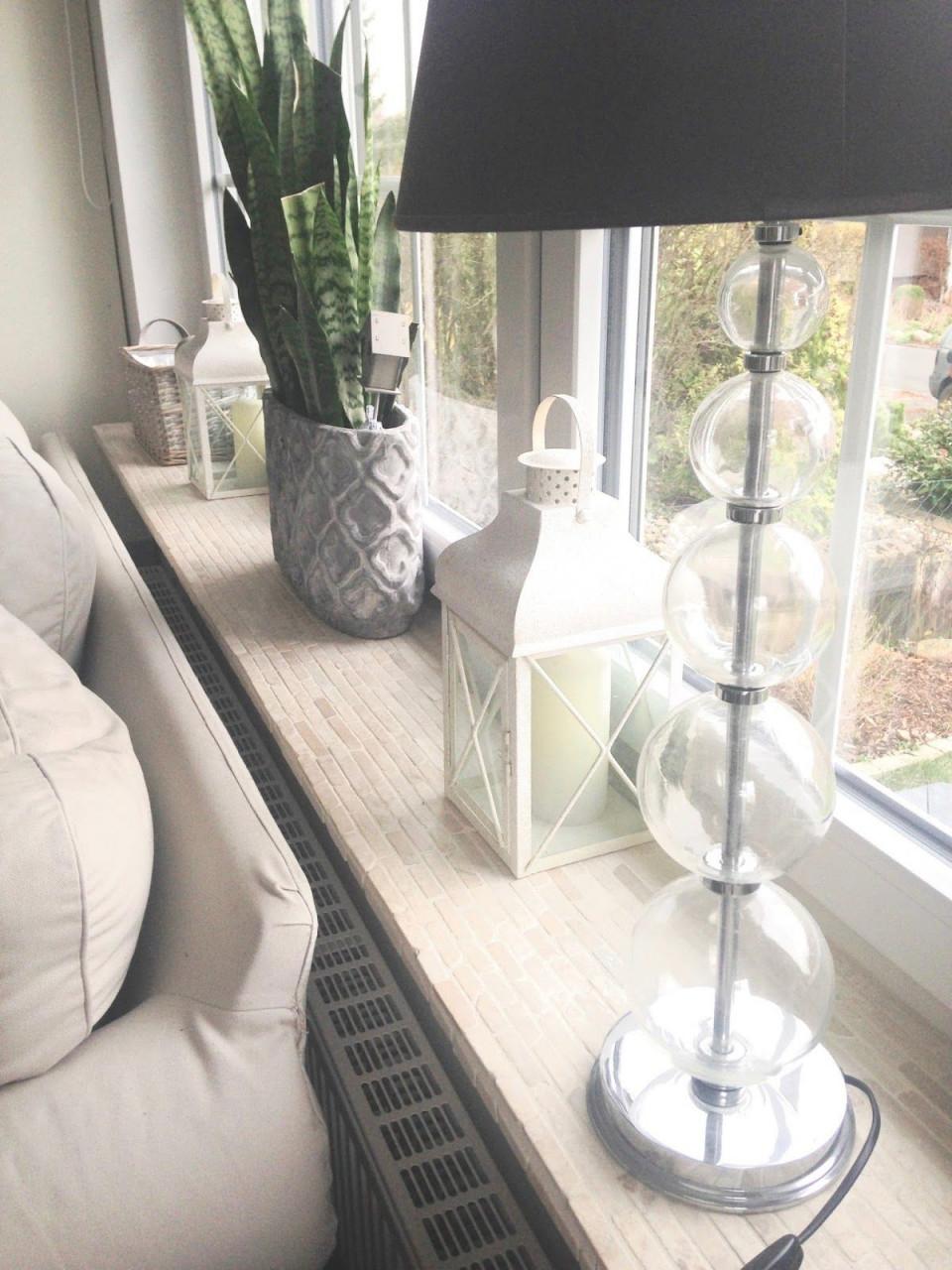Glücksfeder  Ein Blog Über Renovieren Und Dekorieren von Fensterbank Gestalten Wohnzimmer Bild