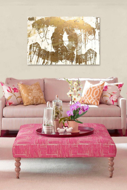 Gold And Pink (Mit Bildern)  Haus Deko Zuhause Dekoration von Wohnzimmer Deko Pink Bild