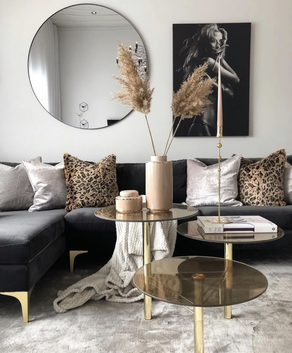 Gold Havenlylivingroom Schwarz Und Wohnzimmer Black And von Deko Wohnzimmer Gold Bild
