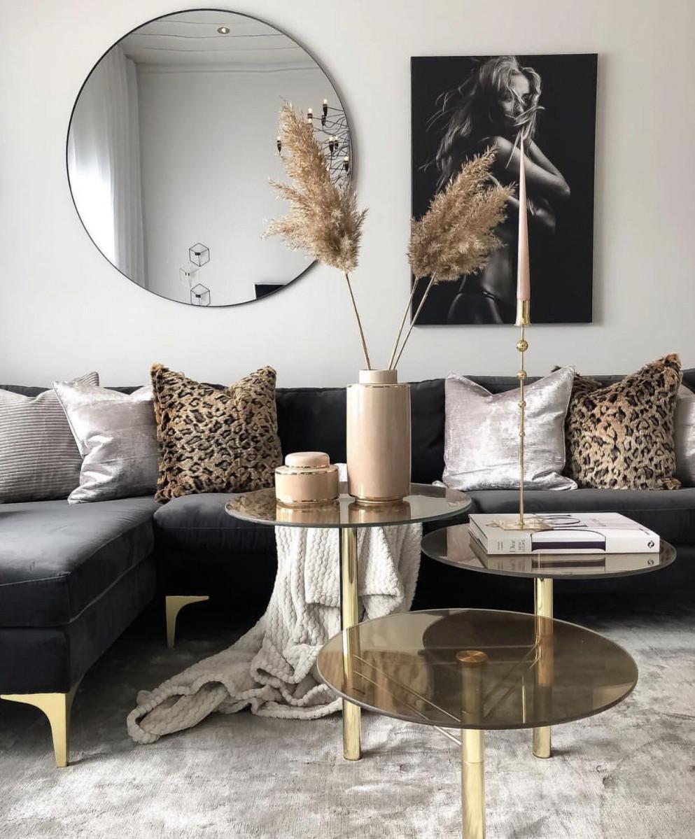 Gold Havenlylivingroom Schwarz Und Wohnzimmer Black And von Goldene Deko Wohnzimmer Bild