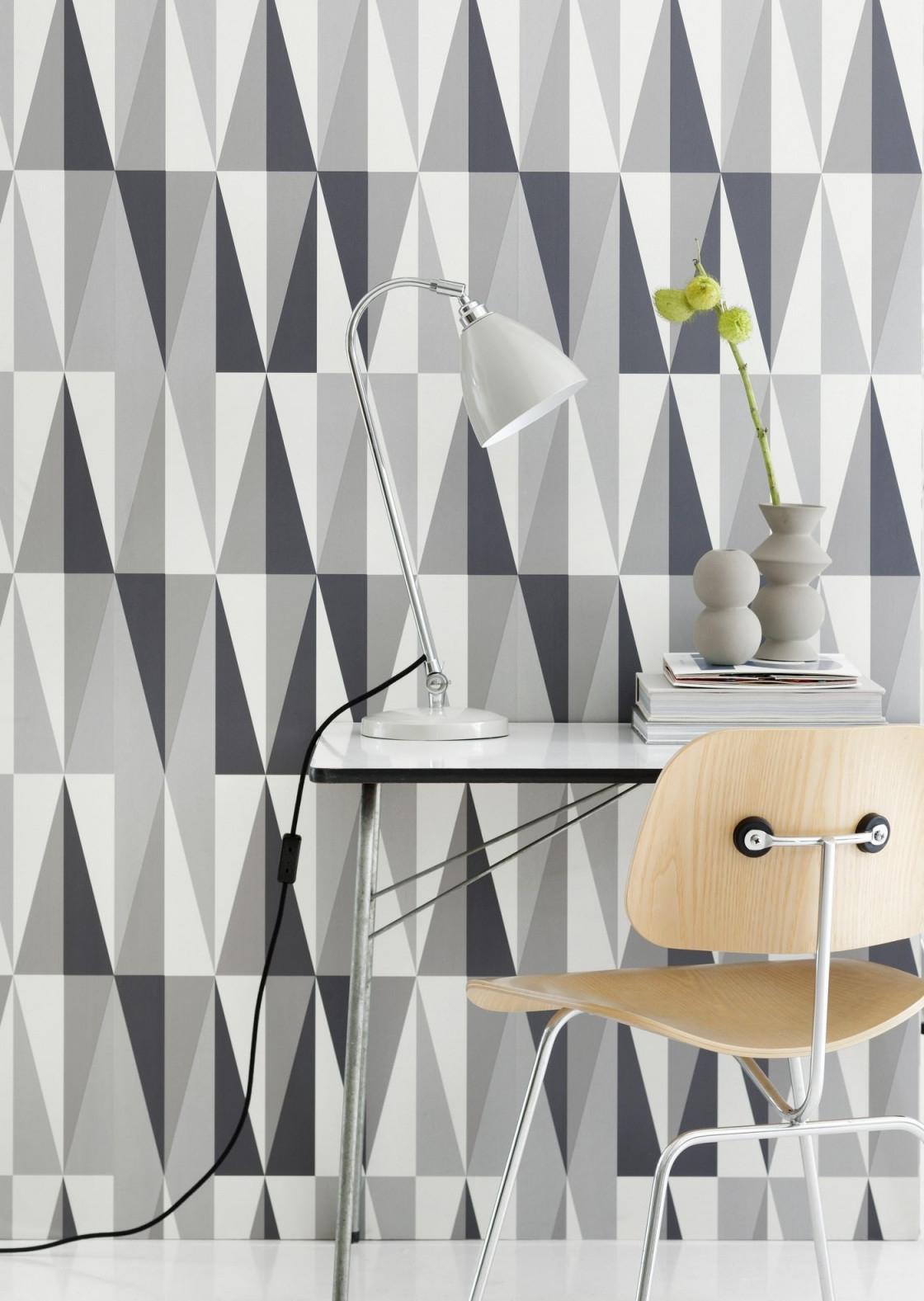 Grafische Grüße Vom Bauhaus  Blog  Lookbook  Tapeten Der 70Er von Tapeten Wohnzimmer Bauhaus Bild