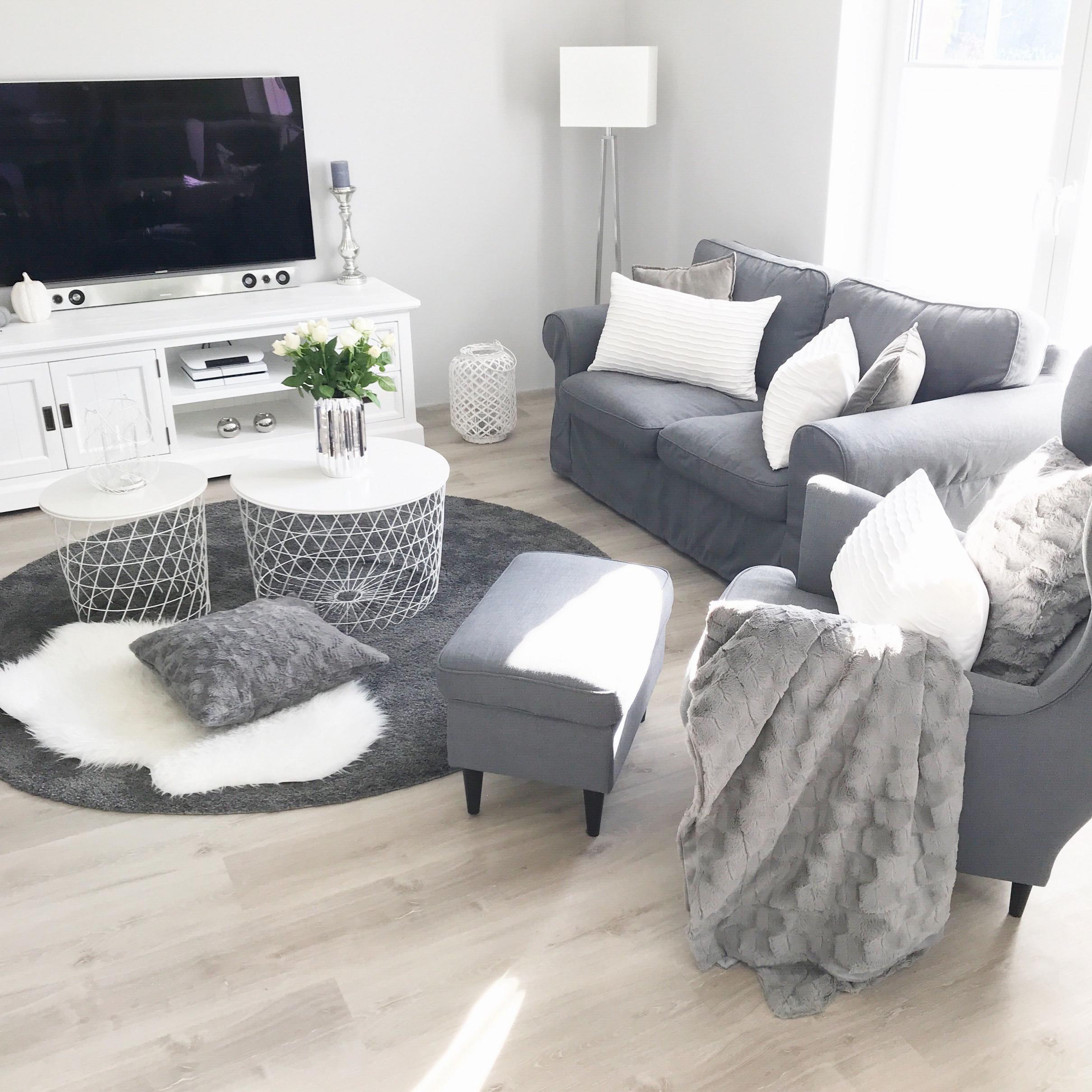 Grau Grey Instagram Landhaus Livingroom Modern Weiss von Wohnzimmer Bilder Grau Bild