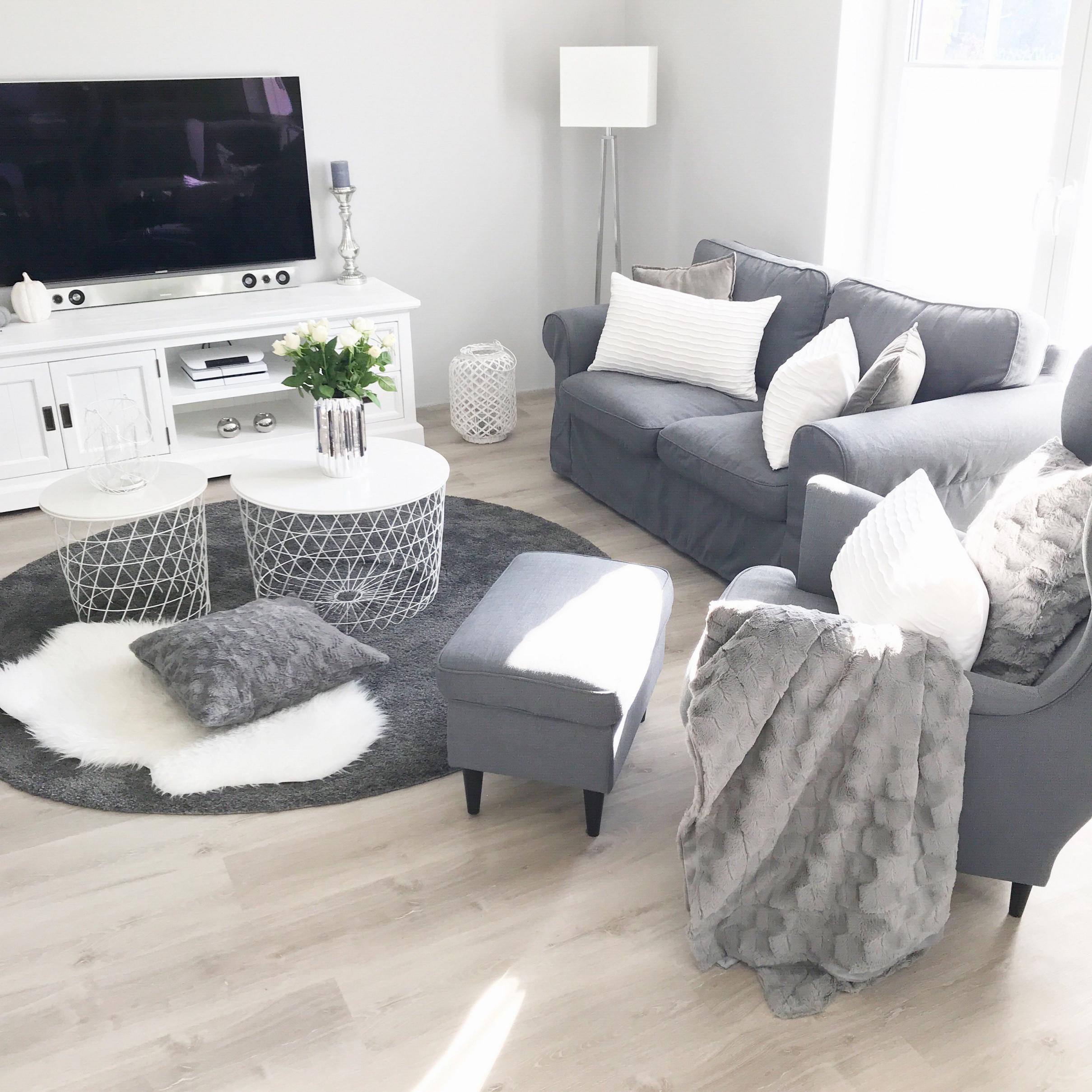 Grau Grey Instagram Landhaus Livingroom Modern Weiss von Wohnzimmer Ideen Weiss Grau Bild
