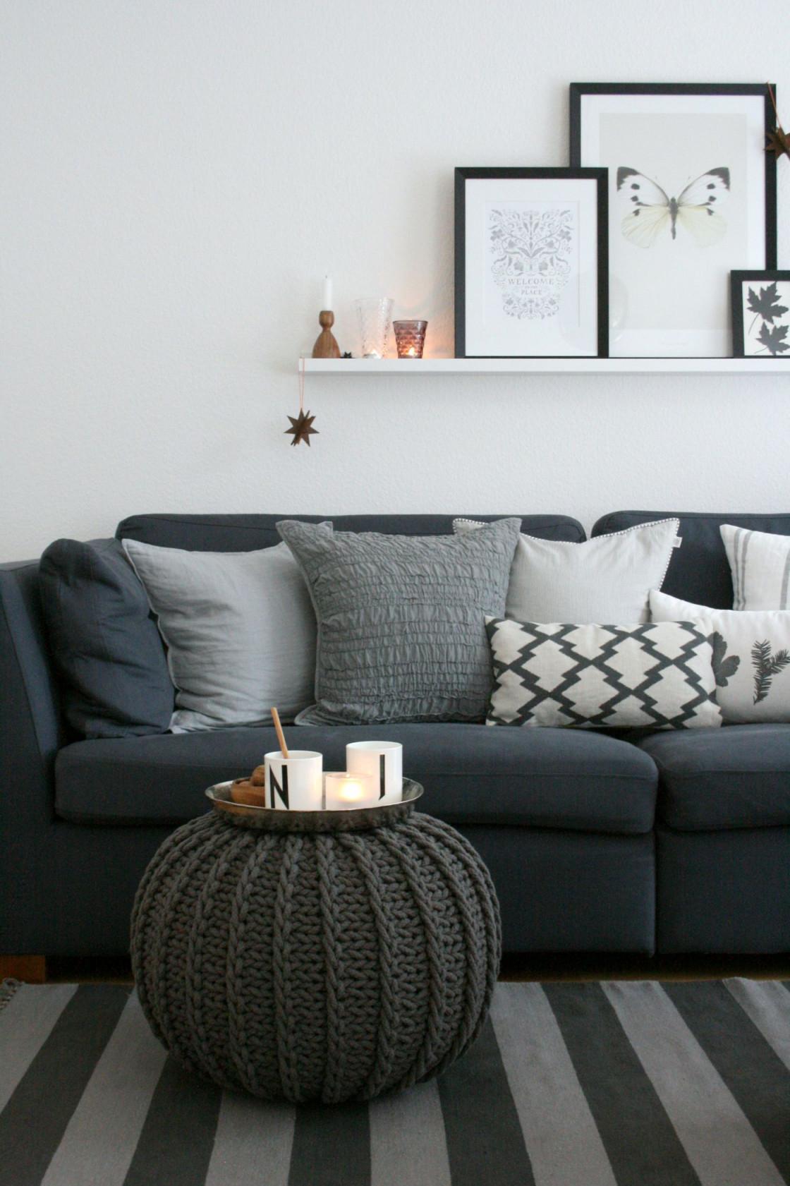 Graue Sofas Ideen Für Dein Wohnzimmer von Wohnzimmer Ideen Graues Sofa Photo