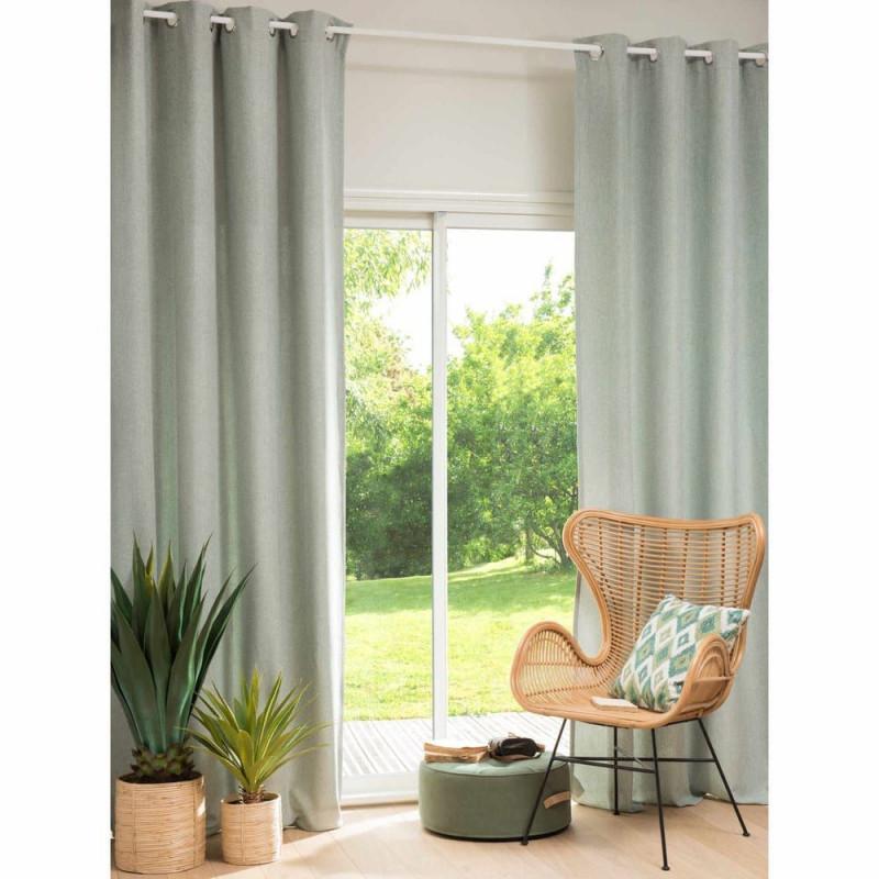Graugrün Ösenvorhang 140X270 1 Vorhang Shanna  Maisons Du von Gardinen Wohnzimmer Grün Bild