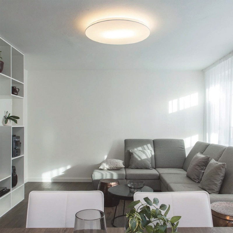 Große Flache Led Deckenleuchte Dimmbar Für Niedrige Decken von Große Deckenleuchte Wohnzimmer Photo