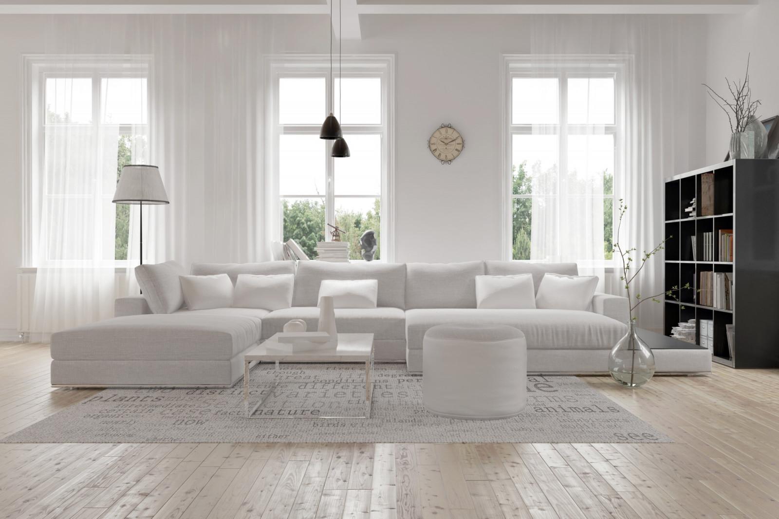 Große Räume Einrichten Und Gestalten – So Geht's  Heimhelden von Wohnzimmer Mit Fensterfront Einrichten Bild