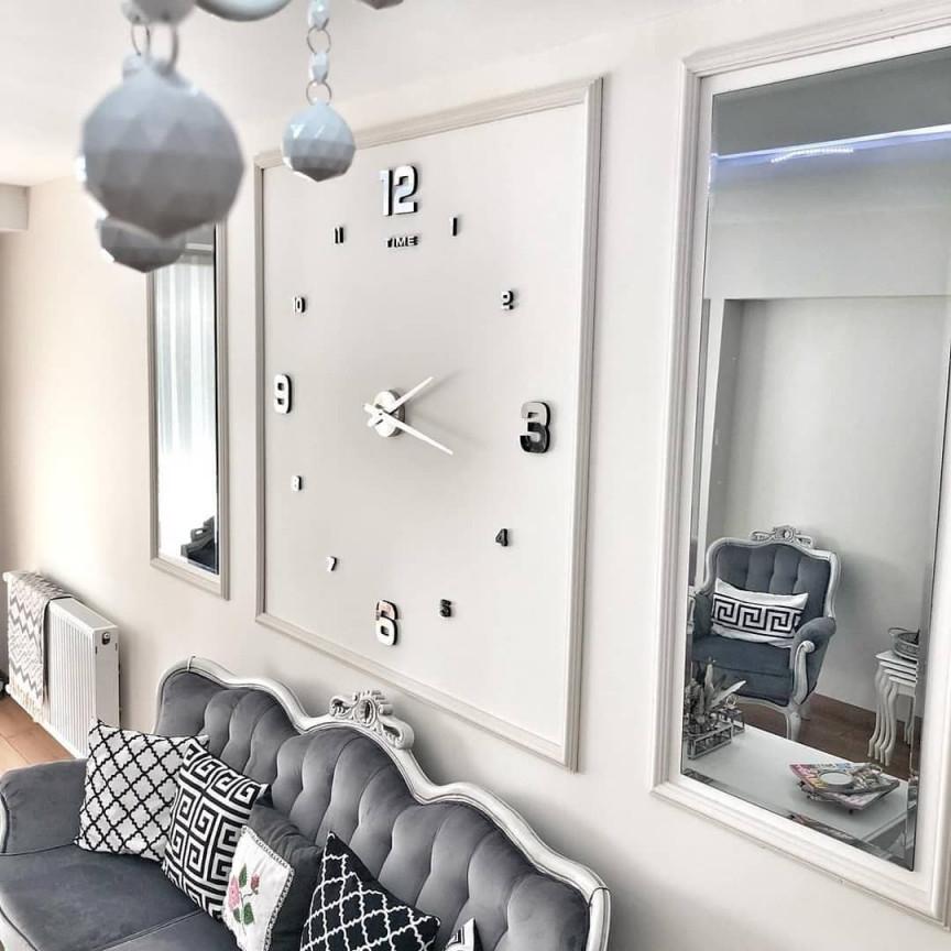 Große Wand Uhr Für Modernes Wohnzimmer  Wanduhren von Moderne Wanduhren Wohnzimmer Bild