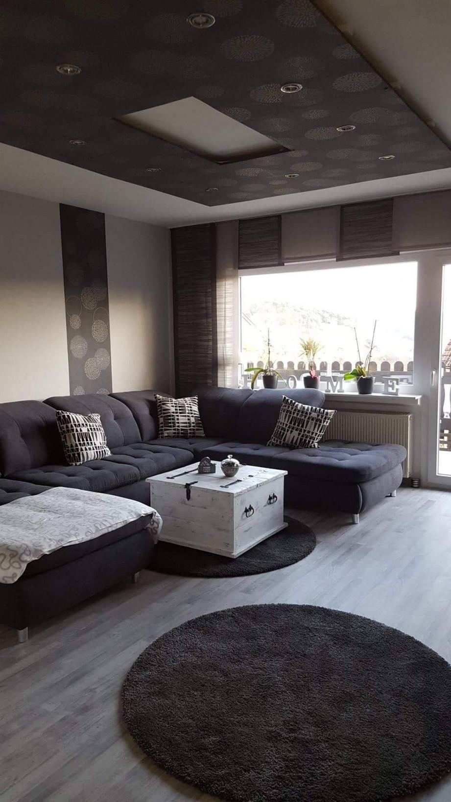 Großes Wohnzimmer Einrichten Reizend Wohnzimmer Ideen Grau von Wohnzimmer In Grau Gestalten Bild