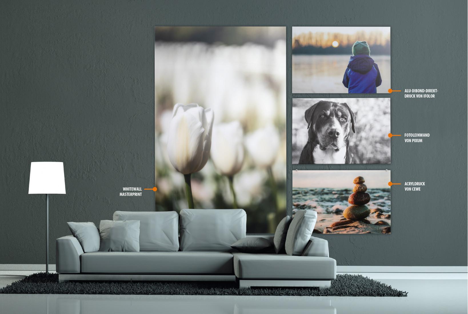 Großformatige Wandbilder Für Zuhause  C't Digitale von Bilder Großformat Wohnzimmer Bild