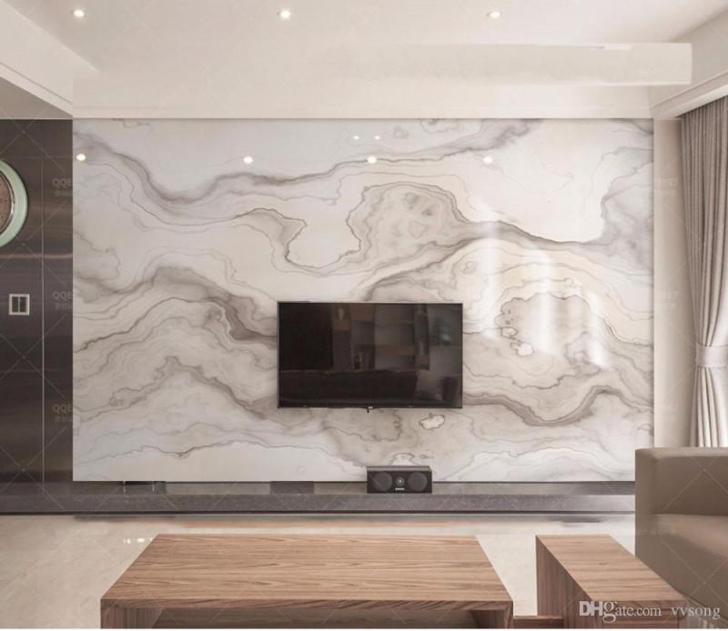 Großhandel Abstrakter Druck Braune Beschaffenheitsmarmor Tapeten Wandbilder  3D Tapeten Für Wohnzimmer Marmorapeten Tapetenaufkleber Der Tapete 3D Von von Tapeten 3D Wohnzimmer Bild