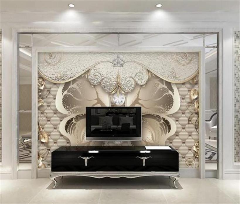 Großhandel Amerikanische Vintage Tapete Europäischen Luxus Goldene  Pfingstrose Wohnzimmer Schlafzimmer Tv Hintergrund Wand Hd Dekorative Wand von Luxus Tapeten Wohnzimmer Bild