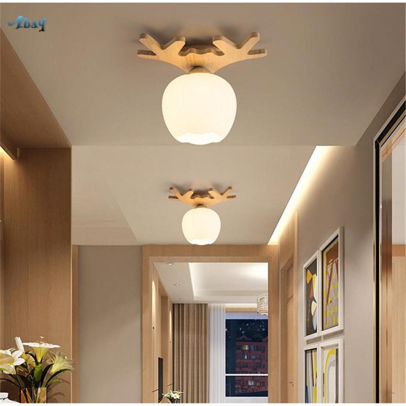 Großhandel Modernes Design Acryl Lampshade Holz Antler Deckenleuchte Für  Wohnzimmer Esszimmer Haus Beleuchtung Led Lampe Home Deco Von Youerlamp von Holz Lampe Wohnzimmer Bild