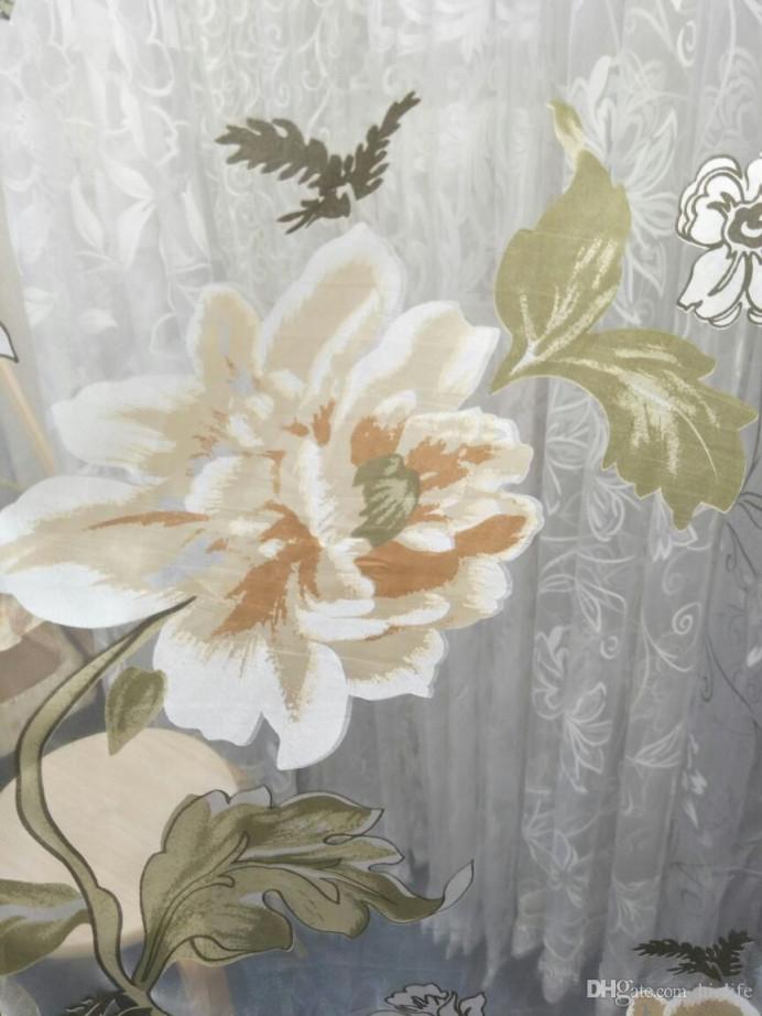 Großhandel Romantische Tüll Fenster Vorhang Für Wohnzimmer Burnout  Pfingstrose Blumen Perlen Polyester Gardinen Transluzent Hause Dünne  Schattierung von Romantische Gardinen Wohnzimmer Photo