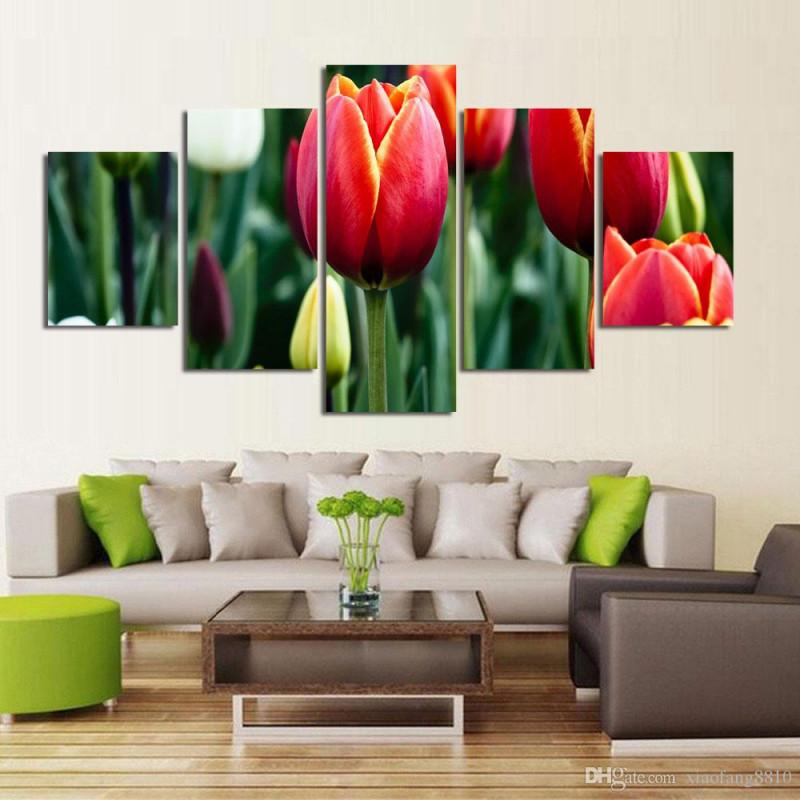 Großhandel  Set Blumen Leinwand Gemälde Rote Rose Moderne Kunst Wandbilder  Für Wohnzimmer Unframed Hd Printed Von Xiaofang8810 581 € Auf von Bilder Moderne Kunst Wohnzimmer Photo