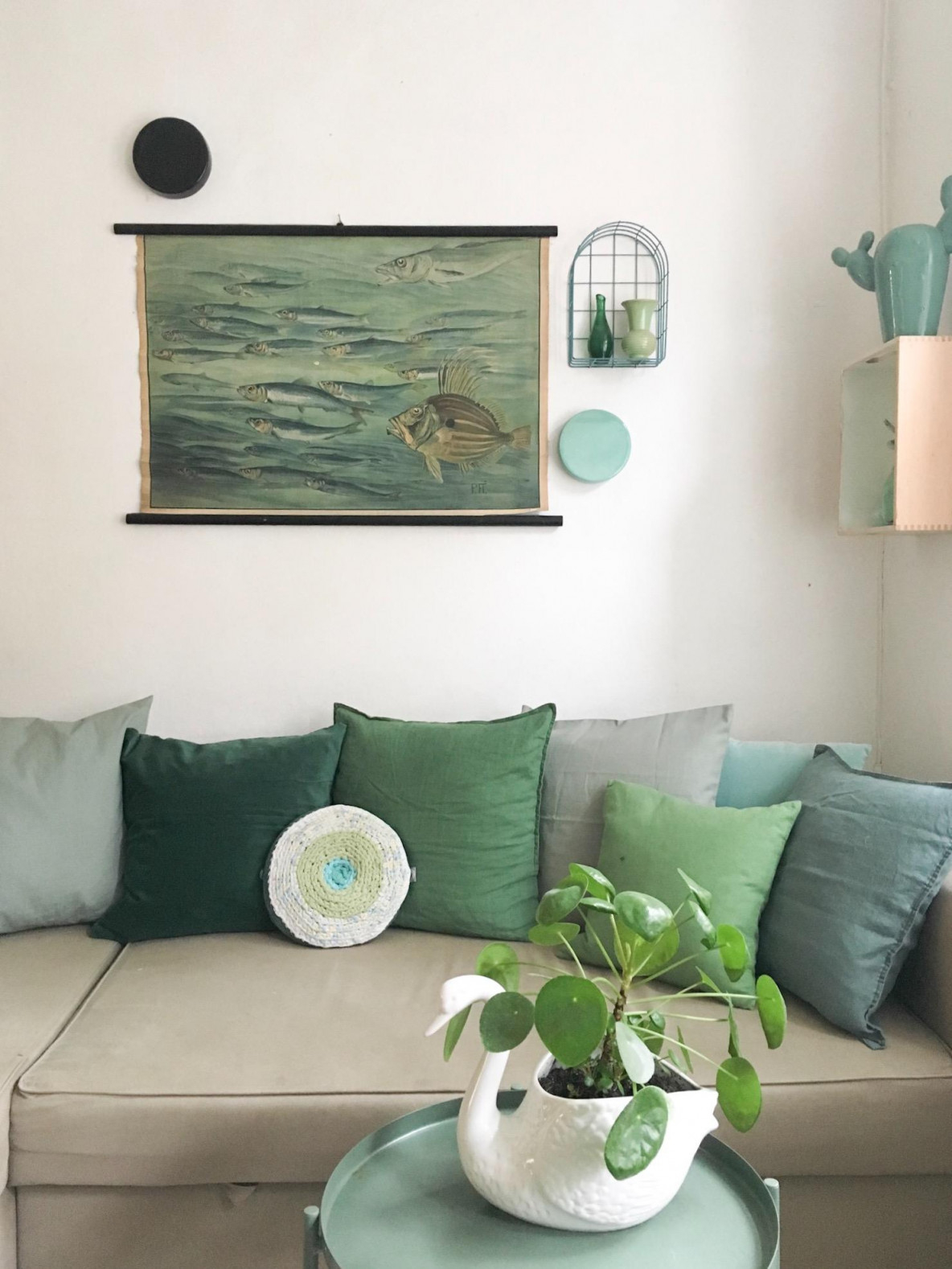 Grün Ist Und Bleibt Meine Lieblingsfarbe 💚🌱 Wohnzim von Deko Mintgrün Wohnzimmer Bild